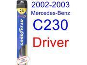 2002-2003 Mercedes-Benz C230 Wiper Blade (Driver) (Goodyear Wiper Blades-Hybrid)