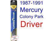 1987-1991 Mercury Colony Park Wiper Blade (Driver) (Goodyear Wiper Blades-Hybrid) (1988,1989,1990)