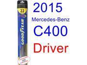 2015 Mercedes-Benz C400 Wiper Blade (Driver) (Goodyear Wiper Blades-Hybrid)