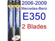 2006-2009 Mercedes-Benz E350 Replacement Wiper Blade Set/Kit (Set of 2 Blades) (Goodyear Wiper Blades-Hybrid) (2007,2008)