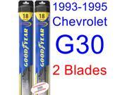 1993-1995 Chevrolet G30 Replacement Wiper Blade Set/Kit (Set of 2 Blades) (Goodyear Wiper Blades-Hybrid) (1994)