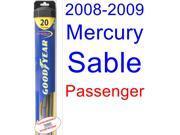 2008-2009 Mercury Sable Wiper Blade (Passenger) (Goodyear Wiper Blades-Hybrid)