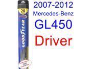 2007-2012 Mercedes-Benz GL450 Wiper Blade (Driver) (Goodyear Wiper Blades-Hybrid) (2008,2009,2010,2011)