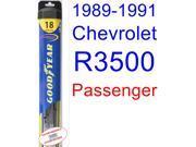 1989-1991 Chevrolet R3500 Wiper Blade (Passenger) (Goodyear Wiper Blades-Hybrid) (1990)