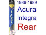 1986-1989 Acura Integra Wiper Blade (Rear) (Goodyear Wiper Blades-Hybrid) (1987,1988)