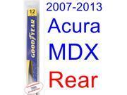 2007-2013 Acura MDX Wiper Blade (Rear) (Goodyear Wiper Blades-Hybrid) (2008,2009,2010,2011,2012)