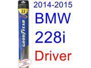 2014-2015 BMW 228i Wiper Blade (Driver) (Goodyear Wiper Blades-Hybrid)
