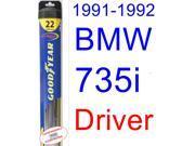 1991-1992 BMW 735i Wiper Blade (Driver) (Goodyear Wiper Blades-Hybrid)