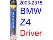 2003-2015 BMW Z4 Wiper Blade (Driver) (Goodyear Wiper Blades-Hybrid) (2004,2005,2006,2007,2008,2009,2010,2011,2012,2013,2014) 9SIA89T36Y7313