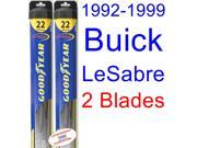 1992-1999 Buick LeSabre Replacement Wiper Blade Set/Kit (Set of 2 Blades) (Goodyear Wiper Blades-Hybrid) (1993,1994,1995,1996,1997,1998)