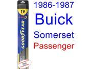 1986-1987 Buick Somerset Wiper Blade (Passenger) (Goodyear Wiper Blades-Hybrid)