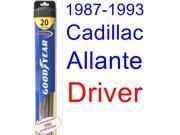 1987-1993 Cadillac Allante Wiper Blade (Driver) (Goodyear Wiper Blades-Hybrid) (1988,1989,1990,1991,1992)
