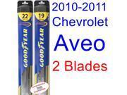 2010-2011 Chevrolet Aveo Replacement Wiper Blade Set/Kit (Set of 2 Blades) (Goodyear Wiper Blades-Hybrid)
