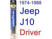 1974-1988 Jeep J10 Wiper Blade (Driver) (Goodyear Wiper Blades-Hybrid) (1975,1976,1977,1978,1979,1980,1981,1982,1983,1984,1985,1986,1987)