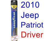 2010 Jeep Patriot Wiper Blade (Driver) (Goodyear Wiper Blades-Hybrid)