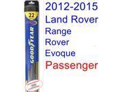 2012-2015 Land Rover Range Rover Evoque Wiper Blade (Passenger) (Goodyear Wiper Blades-Hybrid) (2013,2014)