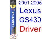 2001-2005 Lexus GS430 Wiper Blade (Driver) (Goodyear Wiper Blades-Hybrid) (2002,2003,2004)