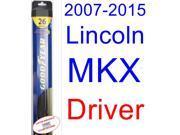 2007-2015 Lincoln MKX Wiper Blade (Driver) (Goodyear Wiper Blades-Hybrid) (2008,2009,2010,2011,2012,2013,2014)