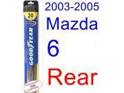 2003-2005 Mazda 6 Wiper Blade (Rear) (Goodyear Wiper Blades-Hybrid) (2004)