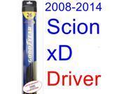 2008-2014 Scion xD Wiper Blade (Driver) (Goodyear Wiper Blades-Hybrid) (2009,2010,2011,2012,2013)