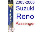 2005-2008 Suzuki Reno Wiper Blade (Passenger) (Goodyear Wiper Blades-Hybrid) (2006,2007)