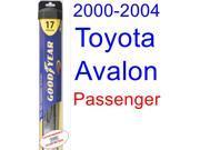 2000-2004 Toyota Avalon Wiper Blade (Passenger) (Goodyear Wiper Blades-Hybrid) (2001,2002,2003)