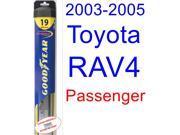 2003-2005 Toyota RAV4 Wiper Blade (Passenger) (Goodyear Wiper Blades-Hybrid) (2004)