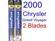 2000 Chrysler Grand Voyager Replacement Wiper Blade Set/Kit (Set of 2 Blades) (Goodyear Wiper Blades-Hybrid)