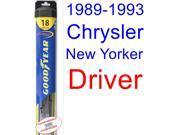 1989-1993 Chrysler New Yorker Wiper Blade (Driver) (Goodyear Wiper Blades-Hybrid) (1990,1991,1992)