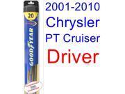 2001-2010 Chrysler PT Cruiser Wiper Blade (Driver) (Goodyear Wiper Blades-Hybrid) (2002,2003,2004,2005,2006,2007,2008,2009) 9SIA89T36Y8728
