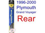 1996-2000 Plymouth Grand Voyager Wiper Blade (Rear) (Goodyear Wiper Blades-Hybrid) (1997,1998,1999)