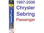 1997-2006 Chrysler Sebring Convertible Wiper Blade (Passenger) (Goodyear Wiper Blades-Hybrid) (1998,1999,2000,2001,2002,2003,2004,2005) 9SIA89T36Z3000