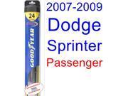 2007-2009 Dodge Sprinter Wiper Blade (Passenger) (Goodyear Wiper Blades-Hybrid) (2008)