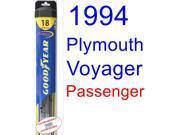 1994 Plymouth Voyager Wiper Blade (Passenger) (Goodyear Wiper Blades-Hybrid)