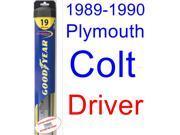 1989-1990 Plymouth Colt Base Wiper Blade (Driver) (Goodyear Wiper Blades-Hybrid)