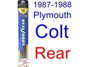 1987-1988 Plymouth Colt DL Wiper Blade (Rear) (Goodyear Wiper Blades-Hybrid)