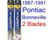 1987-1991 Pontiac Bonneville Replacement Wiper Blade Set/Kit (Set of 2 Blades) (Goodyear Wiper Blades-Hybrid) (1988,1989,1990)
