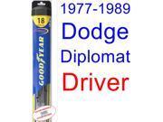 1977-1989 Dodge Diplomat Wiper Blade (Driver) (Goodyear Wiper Blades-Hybrid) (1978,1979,1980,1981,1982,1983,1984,1985,1986,1987,1988)