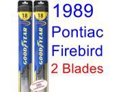1989 Pontiac Firebird Trans Am GTA SE Replacement Wiper Blade Set/Kit (Set of 2 Blades) (Goodyear Wiper Blades-Hybrid) 9SIA89T36Z3636