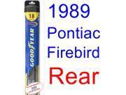 1989 Pontiac Firebird Trans Am GTA SE Wiper Blade (Rear) (Goodyear Wiper Blades-Hybrid) 9SIA89T36Z3707