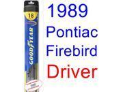 1989 Pontiac Firebird Trans Am GTA SE Wiper Blade (Driver) (Goodyear Wiper Blades-Hybrid) 9SIA89T36Y8817