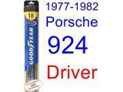 1977-1982 Porsche 924 Wiper Blade (Driver) (Goodyear Wiper Blades-Hybrid) (1978,1979,1980,1981)