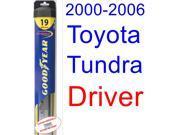 2000-2006 Toyota Tundra Wiper Blade (Driver) (Goodyear Wiper Blades-Hybrid) (2001,2002,2003,2004,2005) 9SIA89T36Y8990