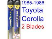 1985-1986 Toyota Corolla LE Limted Replacement Wiper Blade Set/Kit (Set of 2 Blades) (Goodyear Wiper Blades-Hybrid)