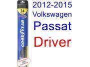 2012-2015 Volkswagen Passat Wiper Blade (Driver) (Goodyear Wiper Blades-Hybrid) (2013,2014)