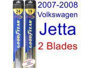 2007-2008 Volkswagen Jetta GLI Replacement Wiper Blade Set/Kit (Set of 2 Blades) (Goodyear Wiper Blades-Hybrid)