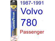 1987-1991 Volvo 780 Wiper Blade (Passenger) (Goodyear Wiper Blades-Hybrid) (1988,1989,1990)