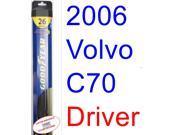 2006 Volvo C70 Wiper Blade (Driver) (Goodyear Wiper Blades-Hybrid)