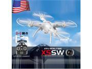 Ship from USA Stock Syma X5SW WiFi Real Time Quadcopters 2MP Camera 2.4Ghz 4CH RC Drone UAV Helicopters