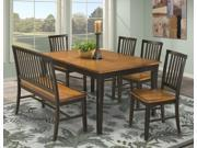 Janes Gallerie Arlington Black and Java 6-piece Dining Set